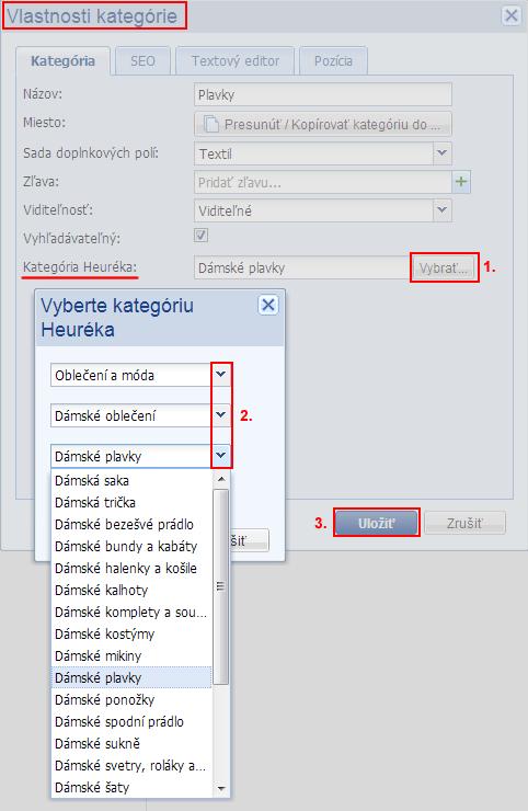 kategórie produktov podľa heureka.sk