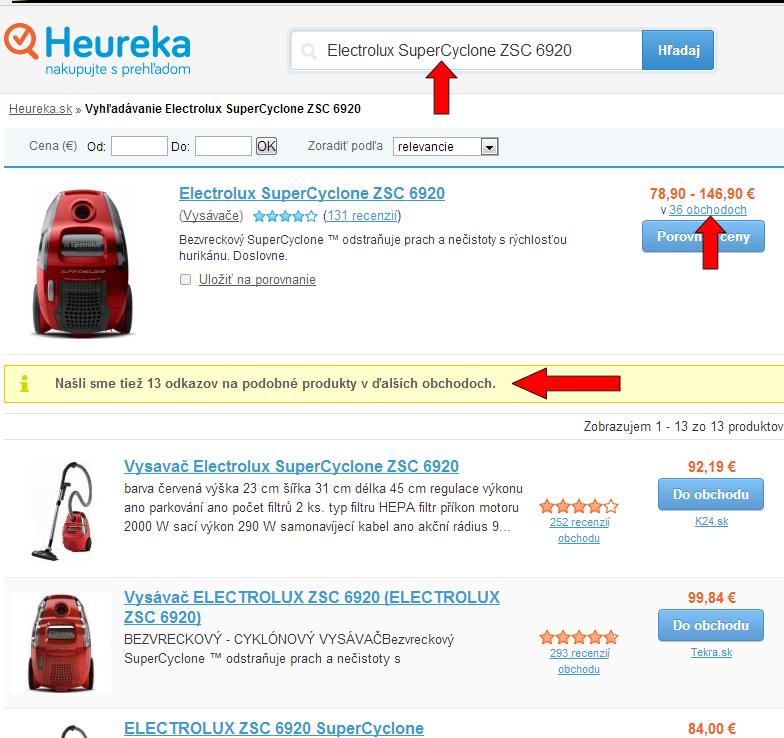 párovanie produktov na heureka.sk