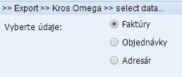 import objednávok a faktúr do omega