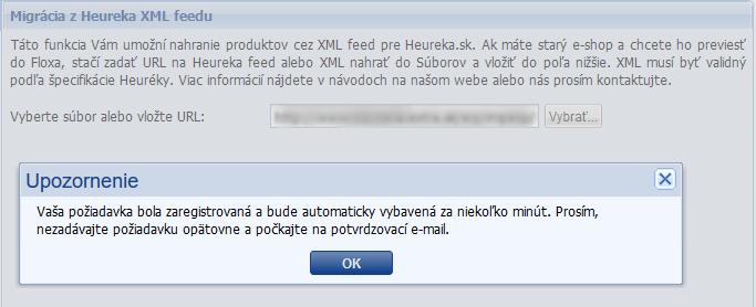 heureka xml import dát do flox 2