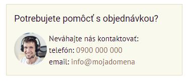 Rýchly kontakt v objednávkovom formulári | Inteo