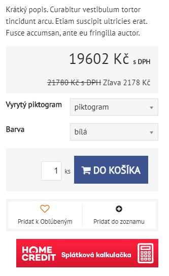 HomeCredit OneClick kalkulačka v detaile produktu | Inteo.sk