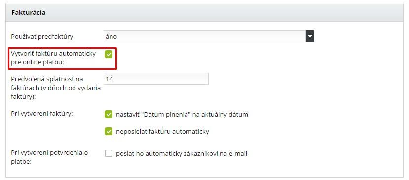 generovanie faktúr pri online platbách v e-shope od bizniswebu