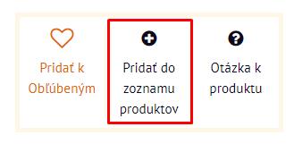 Pridať do zoznamu produktov | Inteo.sk