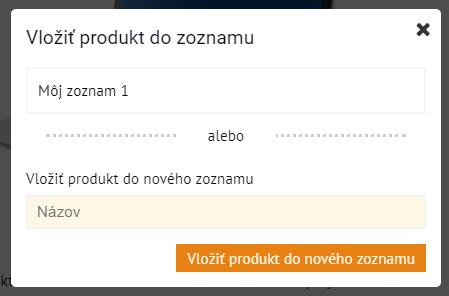 Výber zoznamu | Inteo.sk