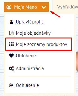 Odkaz na zoznamy produktov | Inteo.sk