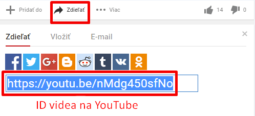 ID videa na YouTube.com