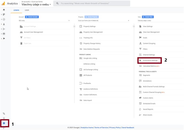 aktivácia EEC v Google Analytics