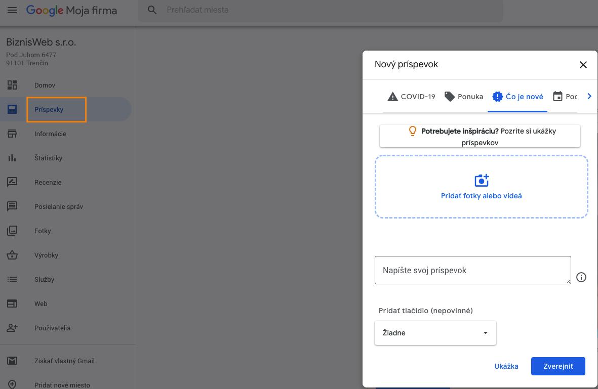 jak vytvořit příspěvek v Google My Business