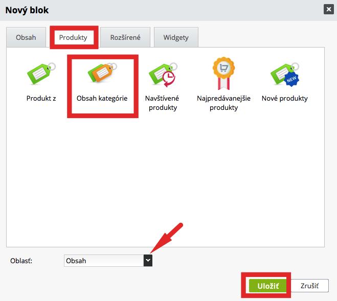 blok zobraziť produkty z kategórie