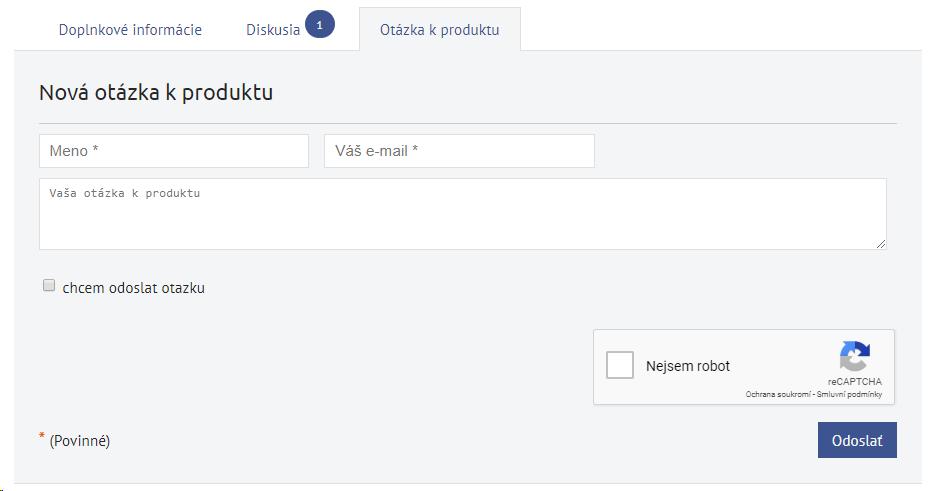 ako zadať otázku k produktu v e-shope od BiznisWebu