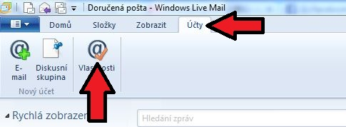 Nastavenie Windows Live Mail
